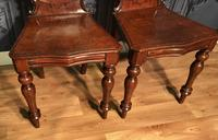 Pair of Victorian Mahogany Hall Chairs 318 (9 of 14)