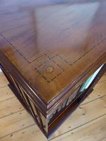 Inlaid Mahogany Revolving Bookcase (7 of 9)