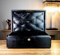 George V John Peck Black Morocco Leather Despatch Box (3 of 12)