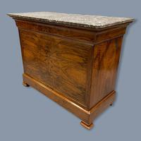 Figured Walnut Marble Top Commode (5 of 9)