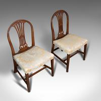 Pair of Antique Hepplewhite Revival Side Chairs, English, Seat, Victorian, 1890 (6 of 12)