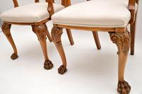 Pair of Antique Walnut Queen Anne Style Carver Armchairs (6 of 10)