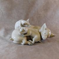 "Lladro ""Playful Piglets"" Figure Group"