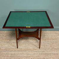 High Quality Edwardian Inlaid Antique Card Table (3 of 6)