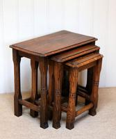 Solid Oak Nest of Three Tables (6 of 9)