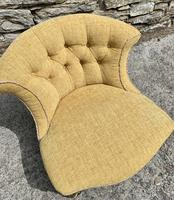 Small Antique Victorian Upholstered Salon Chair (3 of 17)