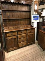 Oak open rack dresser with cupboard and draw base (3 of 14)