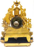 Stunning Quality French Mantel Clock Lady & Lord Figural Mantle Clock. (4 of 9)