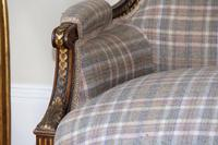 19th Century French Carved Walnut & Gilt Salon Settee (3 of 17)