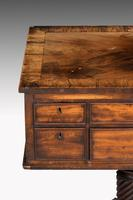 Complex George III Mahogany Centre Standing Writing Table (3 of 6)