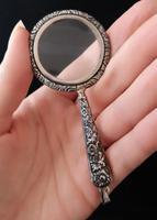 Antique Silver Magnifying Glass Pendant, Art Nouveau (8 of 10)