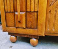 Art Deco Oak Wood Sideboard with Ball Feet (7 of 9)