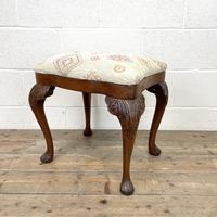 Late Victorian Carved Mahogany Stool