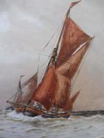 Watercolour Seascape Off Maplin Sands Listed Artist William Henry Pearson (4 of 10)