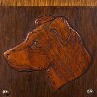 Antique Decorative Dog Letter Rack, English, Mahogany, Oak, Wall, Edwardian (5 of 8)