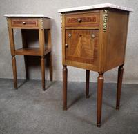 Pair of French Inlaid Mahogany Bedside Cupboards / Night Stands (2 of 14)