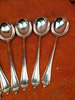 6 x Vintage Sterling Silver Hallmarked Large Soup Spoons 1940 A E Poston & Co Ltd  408g (4 of 7)