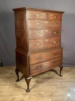Handsome elegant 18th century oak country-house chest on chest (5 of 12)