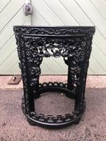 Antique Oriental Chinese Marble Top Stand (3 of 5)