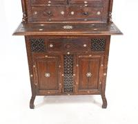 Syrian Inlay Cabinet Bookcase Damascan Islamic Interiors c.1880 (3 of 14)