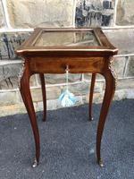 Antique Rosewood & Brass Bijouterie Display Table