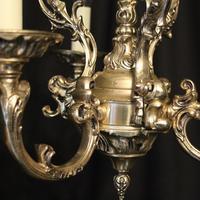 Italian Silver Gilded Triple Light Chandelier (5 of 10)