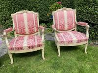 Pair of Large Painted Armchairs (5 of 9)