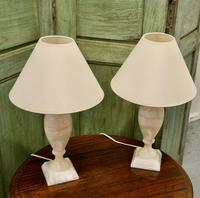 Pair of Art Deco Marble Table Lamps (5 of 5)