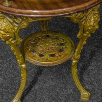 Victorian Cast Iron Drinks Table with Galley (7 of 7)