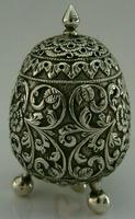 Stunning Indian Eastern Solid Silver Pepper Spice Pot Egg Shaped c.1880 (7 of 9)