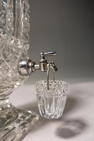 Extremely Rare Late 19th Century Lead Crystal Cut Glass Whiskey Dispenser (4 of 7)