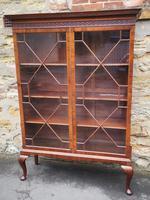 Chippendale Style Glazed Mahogany Bookcase (4 of 10)