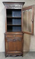 Antique French Carved Oak Bookcase (5 of 16)