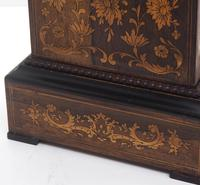 Wonderful Offices French Empire Mantel Clock Carved Floral Inlay (2 of 10)