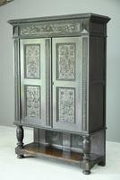 Antique Large Dark Oak Cupboard (3 of 13)