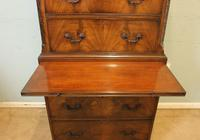 Antique Mahogany Chippendale Style Chest on Chest, Tallboy (6 of 15)
