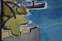 LoÏs Hutton Avant-Garde Art Deco Watercolour 1920 (3 of 8)