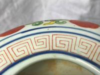 Pair Fine Chinese Kangxi Style Porcelain Green Red Dragon Flower Vases Signed (8 of 13)