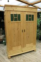 Fabulous Old Pine Knock Down 'arts & Crafts' Double Wardrobe  - We Deliver & Assemble! (2 of 16)