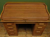Antique Golden Oak Roll Top Writing Desk, Scandanavian A B Bobin & Mobelfabriken (7 of 15)