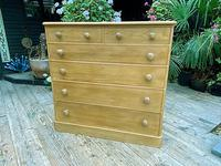 Beautiful Old Pine Chest Of Six Drawers / Sideboard (3 of 8)