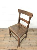 Selection of Six 19th Century Welsh Oak Farmhouse Kitchen Chairs (9 of 10)