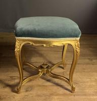 Beautiful French Giltwood Dressing Table Stool (6 of 12)