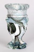 Sowerby / Edward Moore Marbled Slag Glass Gryphon Vase c.1880 (10 of 16)