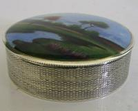 Rare Austrian Hand Painted Solid Sterling Silver Enamel Box c.1910 (2 of 8)