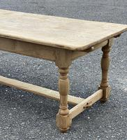 Large French Bleached Oak Farmhouse Table with Extensions (8 of 26)