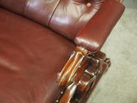 William IV Mahogany and Burgundy Leather Armchair (11 of 12)