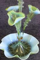 Antique Victorian Green Vaseline Glass Epergne (5 of 16)