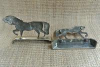 Fine Pair of Victorian Cast Brass Horse Hearth Ornaments Door Stop Door Porter (7 of 7)
