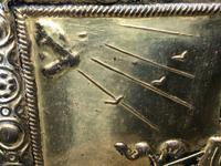 1940's Brass Embossed Marine Galleon Ship Magazine Rack Stand (2 of 10)